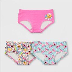 NEW Girls' 3 Pack Llamas & Cupcakes Hipster Briefs